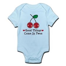 Good Things Cherry Pink Twin Onesie Infant