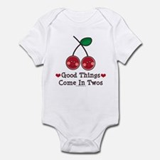 Good Things Cherry Twin Onesie Infant