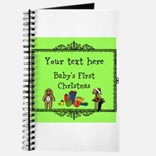 Customizable Babys First Christmas Journal