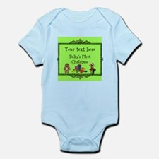 Customizable Babys First Christmas Body Suit