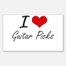 I love Guitar Picks Decal