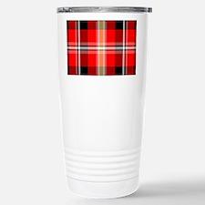 Red Plaid Travel Mug