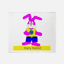 Hairy Rabbit Throw Blanket