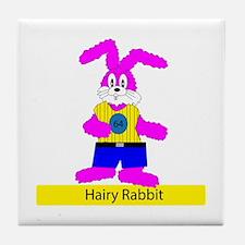 Hairy Rabbit Tile Coaster