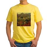 Grand canyon Mens Yellow T-shirts