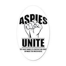 Aspies Unite Oval Car Magnet