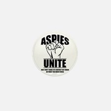 Aspies Unite Mini Button (10 pack)