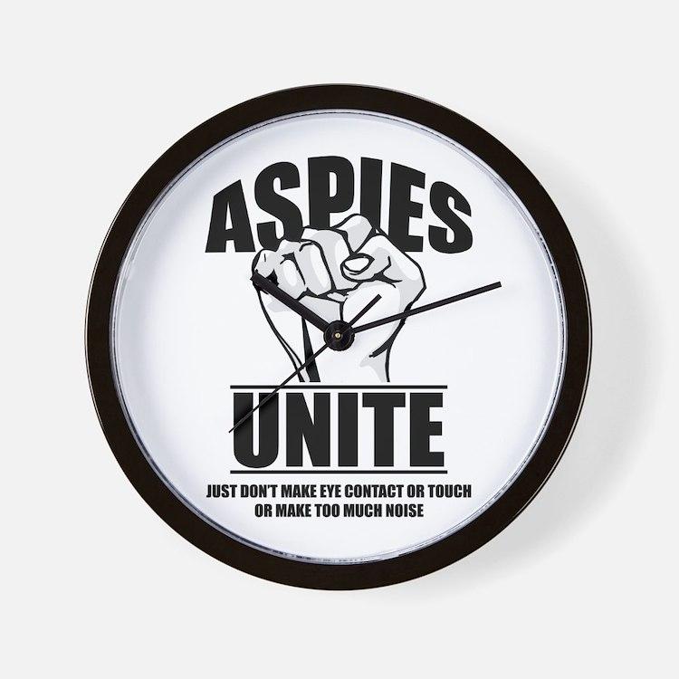 Aspies Unite Wall Clock