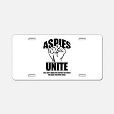Aspies Unite Aluminum License Plate