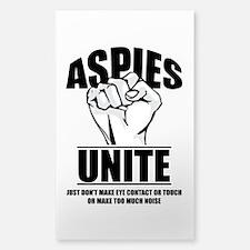 Aspies Unite Sticker (Rectangle)