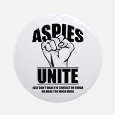 Aspies Unite Round Ornament