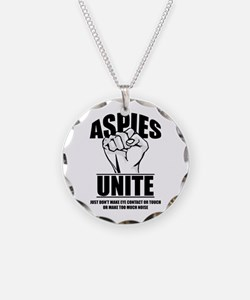 Aspies Unite Necklace Circle Charm