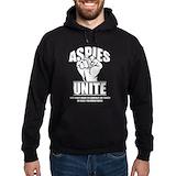 Aspies unite Hoodie (dark)