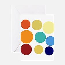 Cute Bright Polka Dots Fun Greeting Card