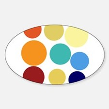 Cute Bright Polka Dots Fun Sticker (Oval)