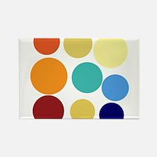 Cute Bright Polka Dots Fun Rectangle Magnet