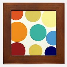 Cute Bright Polka Dots Fun Framed Tile