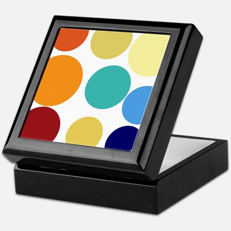 Cute Bright Polka Dots Fun Keepsake Box