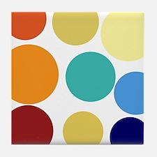 Cute Bright Polka Dots Fun Tile Coaster