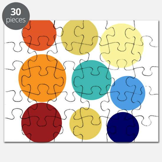 Cute Bright Polka Dots Fun Puzzle