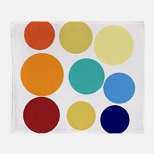Cute Bright Polka Dots Fun Throw Blanket