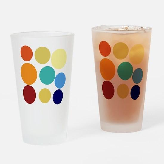 Cute Bright Polka Dots Fun Drinking Glass