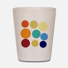 Cute Bright Polka Dots Fun Shot Glass