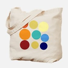 Cute Bright Polka Dots Fun Tote Bag
