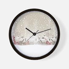 Winter Village Wall Clock