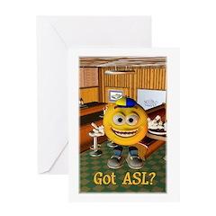 ASL Boy - Greeting Card 5x7 Single Card