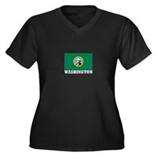 Washington Women's Plus Size V-Neck Dark T-Shirt