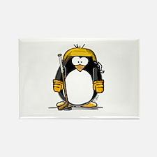 Gold Hockey Penguin Rectangle Magnet