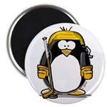 Gold Hockey Penguin Magnet