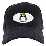 Gold Hockey Penguin Black Cap