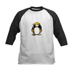 Gold Hockey Penguin Kids Baseball Jersey