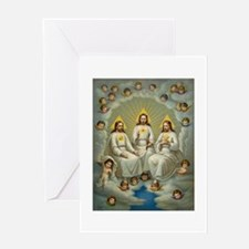 Vintage Painting of the Trinity Greeting Cards