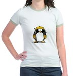 Gold Hockey Penguin Jr. Ringer T-Shirt