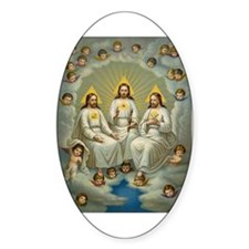 Vintage Painting of the Trinity Decal