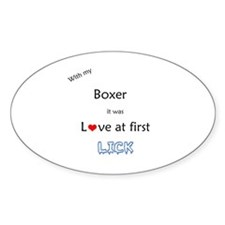 Boxer Lick Oval Decal