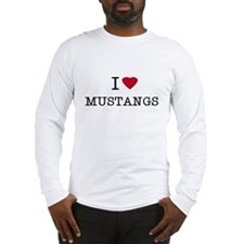 I Heart Mustangs Long Sleeve T-Shirt