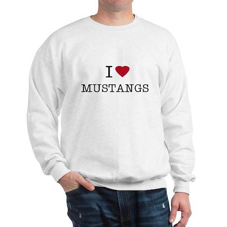 I Heart Mustangs Sweatshirt
