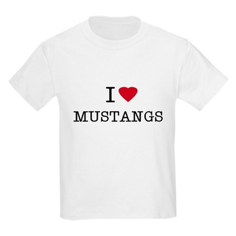 I Heart Mustangs Kids T-Shirt