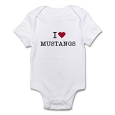 I Heart Mustangs Infant Creeper