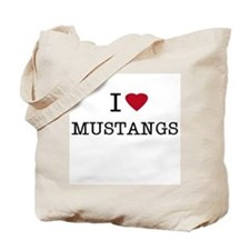 I Heart Mustangs Tote Bag