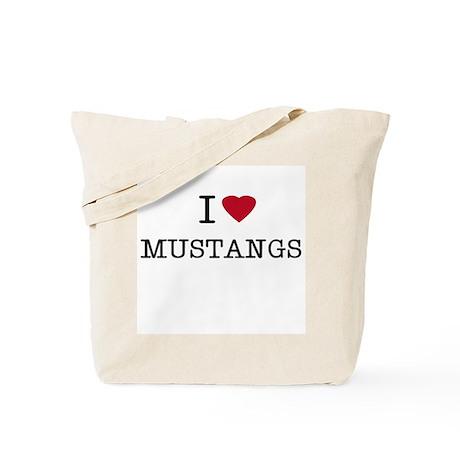 I Heart Mustangs Tote Bag