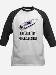 Motorboatin' son of a bitch Kids Baseball Jersey