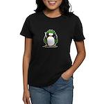 Green Hockey Penguin Women's Dark T-Shirt