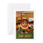 ASL Girl - Greeting Card 5x7 Single Card