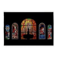 stained glass jesus 5'x7'Area Rug