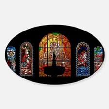stained glass jesus Decal